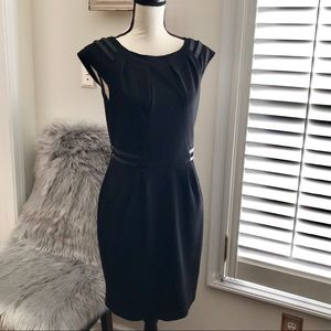 Jennifer Lopez Leather Accent Dress